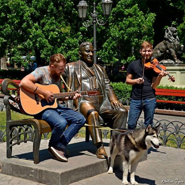 Уличные музыканты в Одессе